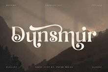 Dunsmuir - Modern Serif Font by  in Fonts