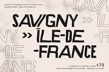 SAVIGNY - Psychedelic Display Font by  in Fonts