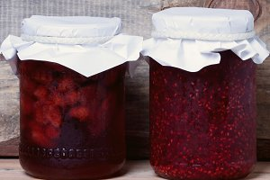 Two jars with jam