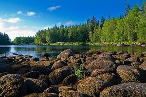 Stones at the riverbank