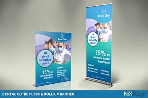 Dental Flyer & Roll-Up Banner - SK