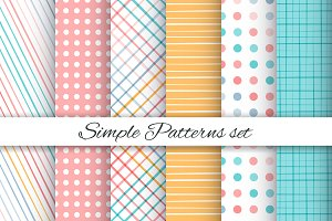 Simple geometric patterns set