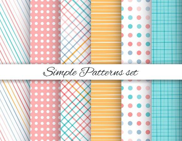 Simple Geometric Patterns Set