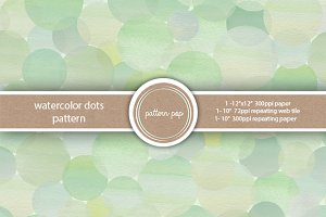 Mint Watercolor Dots