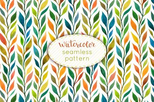 Watercolor seamless pattern
