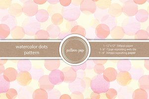 Watercolor Dots Seamless Pattern