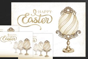 SET / 4 / Golden Eggs for EASTER