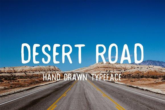 Desert Road Hand Drawn Typeface