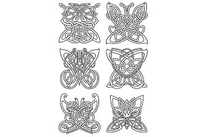 Butterfly tribal celtic ornaments
