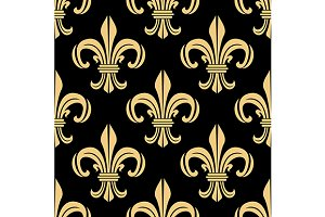 Beige and black seamless pattern