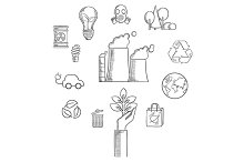 Environment sketch icons