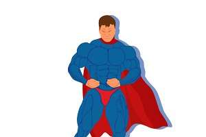 superhero, vector illustration