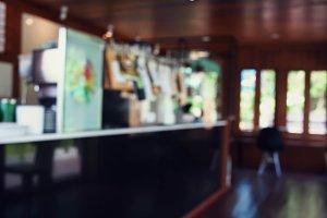 Blur cafe coffee shop