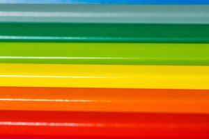Colored pencils closeup