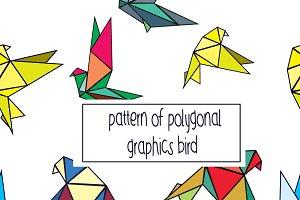 seamles pattern graphics bird