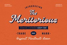 Meritorious Script by  in Fonts