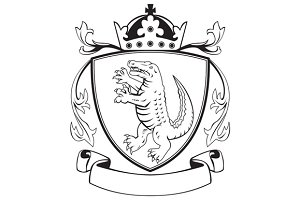 Alligator Standing Coat of Arms