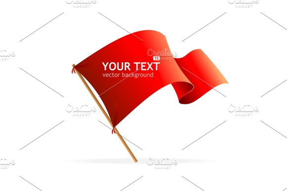 Flag Banner for Text. Vector - Illustrations