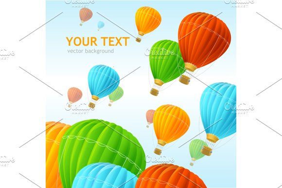 Air Ballons Background. Vector - Illustrations