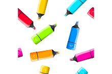Rainbow Marker Pattern. Vector