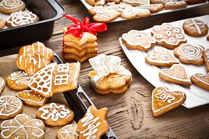 Varoius homemade gingerbread