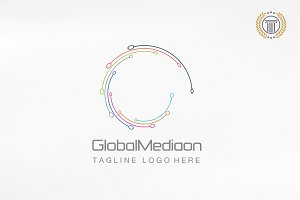 Letter G Global Media Logo Templates