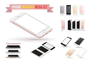 iPhone 6s Vector Mockups Set