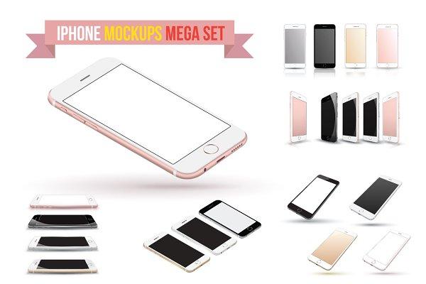 iPhone 6s Vector Mockups Set