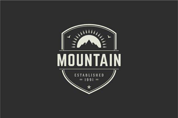 mountain logo logo templates creative market