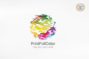 Abstract Pixel Media Logo | Premium