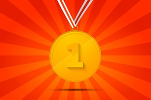 Golden medal for first place