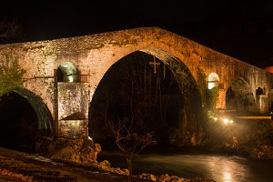 Roman bridge in Cangas de Onis
