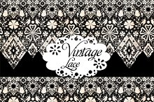 Antique lace seamless pattern