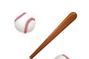 Baseball bat and balls