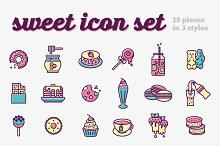 Sweet icon set
