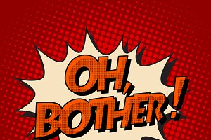 oh brother retro comic bubble text