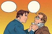 Conflict men fight quarrel
