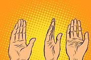 Voting hand picks up