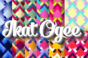 12 Ikat Ogee Seamless Pattern