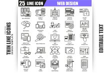 Thin Line Web Design Icons