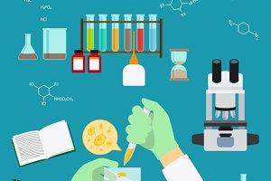 Chemistry laboratory concept