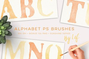 Alphabet Photoshop Brushes