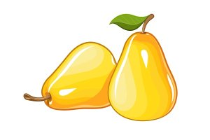 Juicy ripe pear.