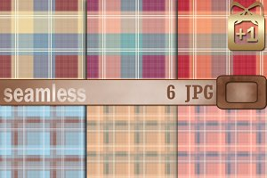 6 Seamless Patterns Scottish Plaids
