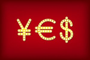yes in form money symbol