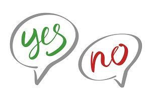 Yes No speech bubbles vector