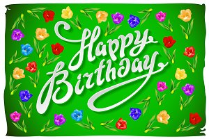 vector Birthday Card flower