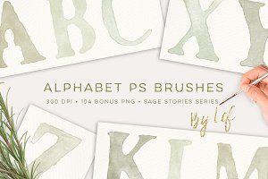 Photoshop Brushes Alphabet
