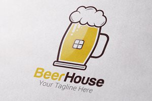 Beer House Logo Template