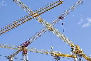Industrial construction cranes